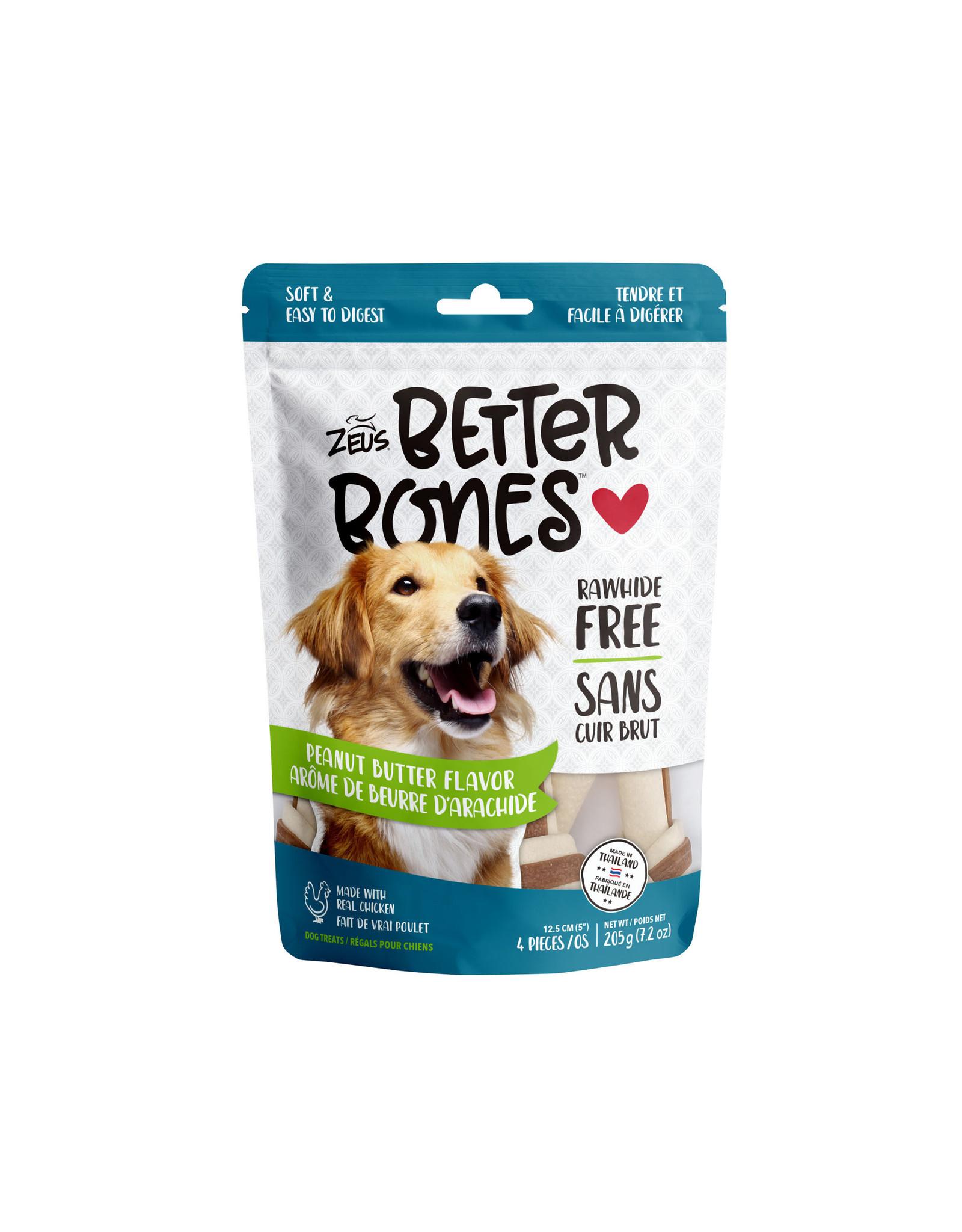 "Zeus Zeus Better Bones Peanut Butter Flavour 5"" 4 pk"