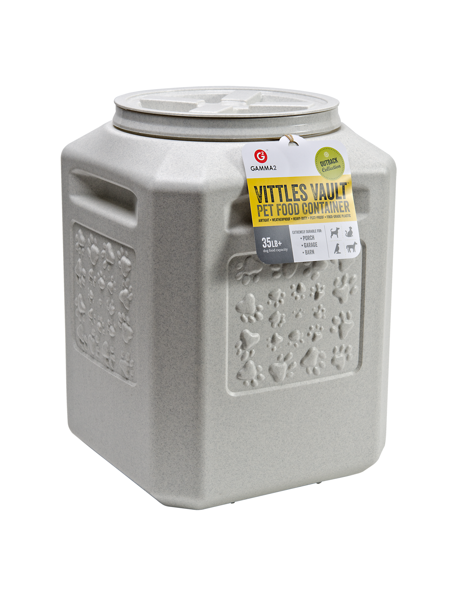 Gamma2 Vittles Vault Food Storage Container 35lb - 12x12x13.25in