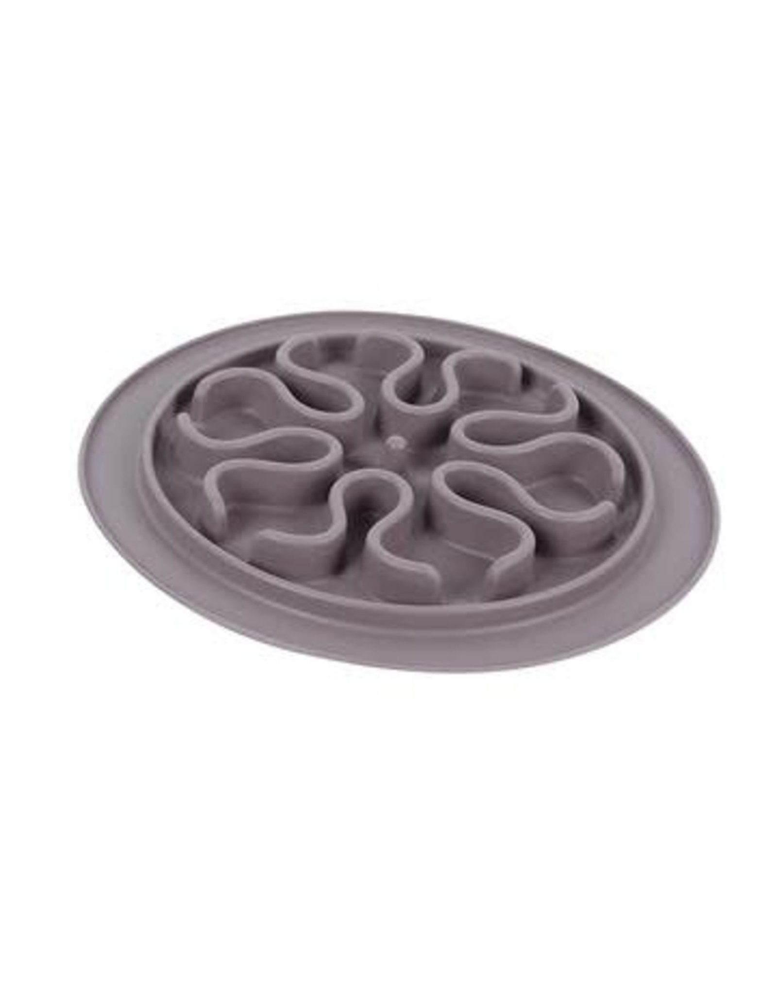 Messy Mutts Messy Cats Silicone Interactive Cat Feeder Large Grey