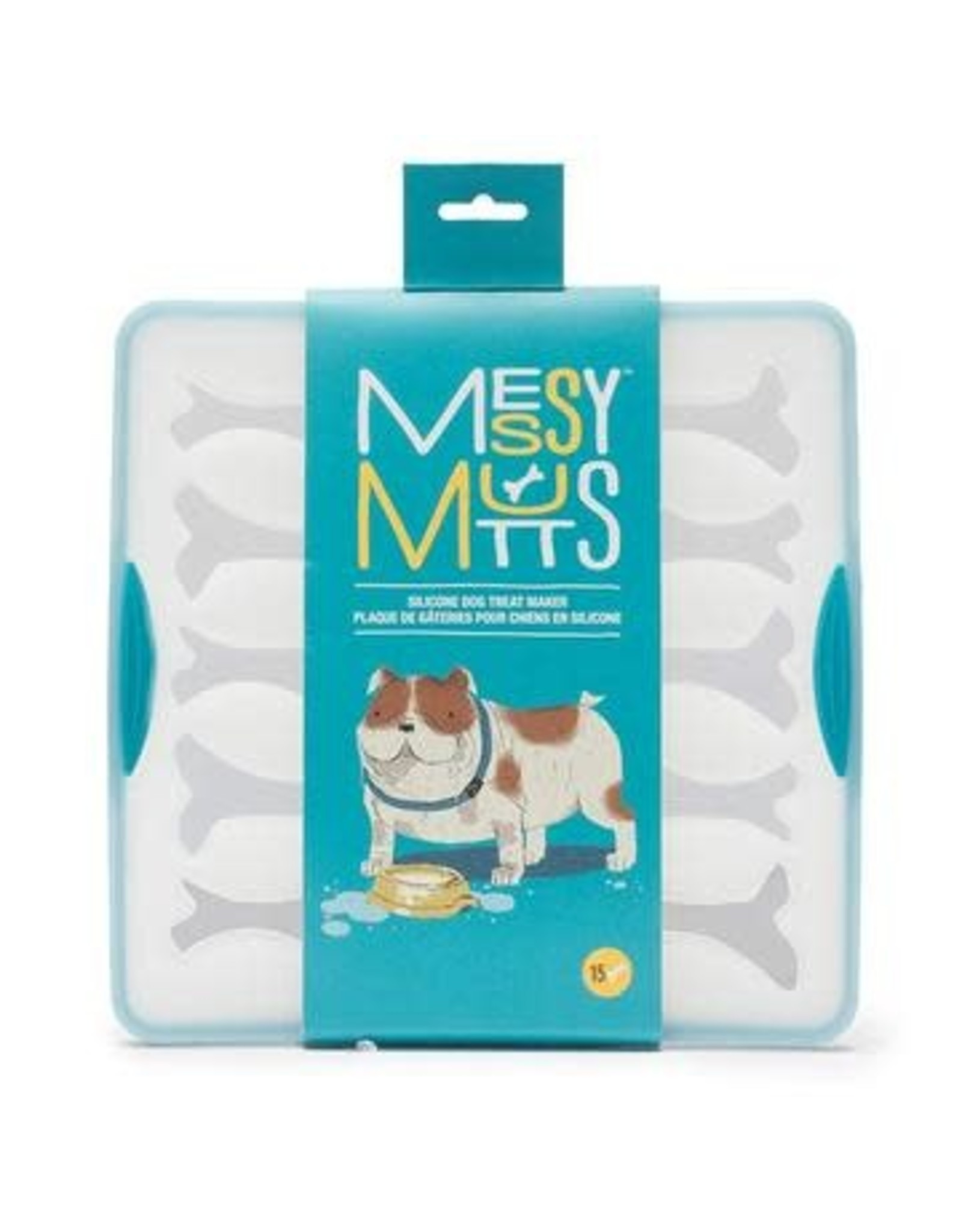 Messy Mutts Messy Mutts Silicone Bake and Freeze Treat Maker 15 Small Bones