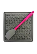 Messy Mutts Messy Mutts Silicone Therapeutic Feeding Mat with Spatula Grey/Watermelon