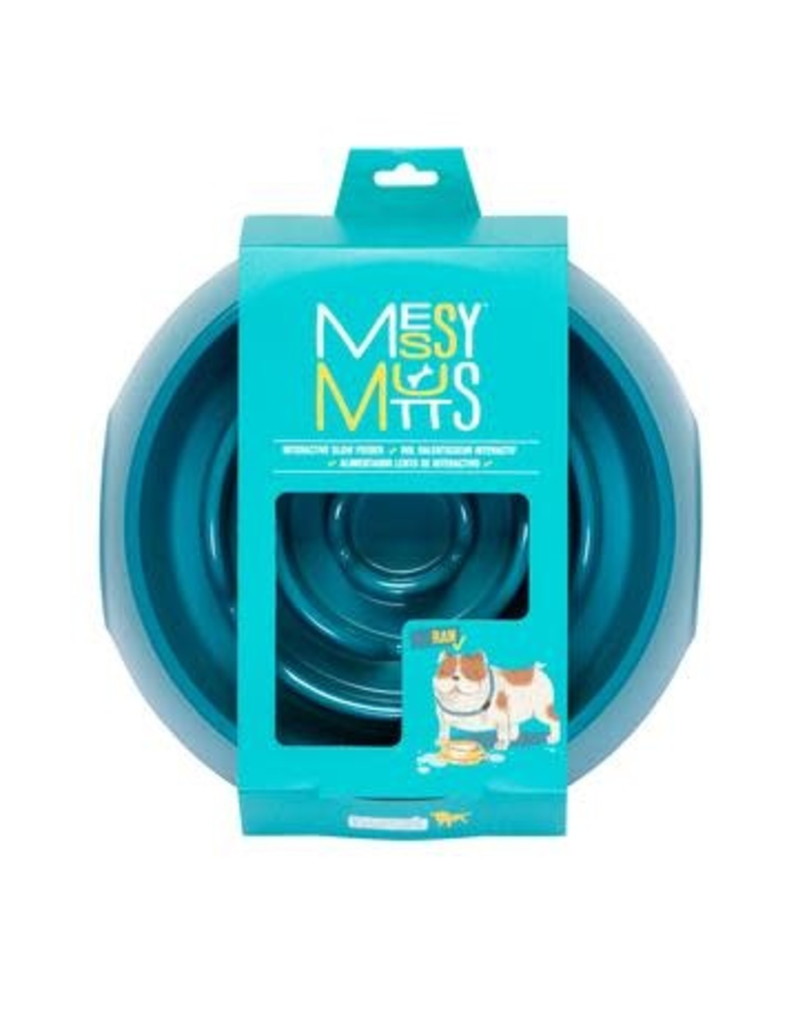 Messy Mutts Messy Mutts Interactive Slow Feeder Blue 3 Cup