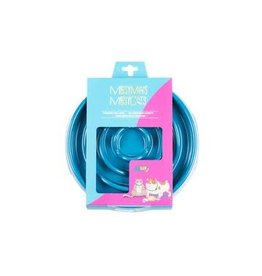 Messy Mutts Messy Mutts Interactive Slow Feeder Blue 1.75 Cup