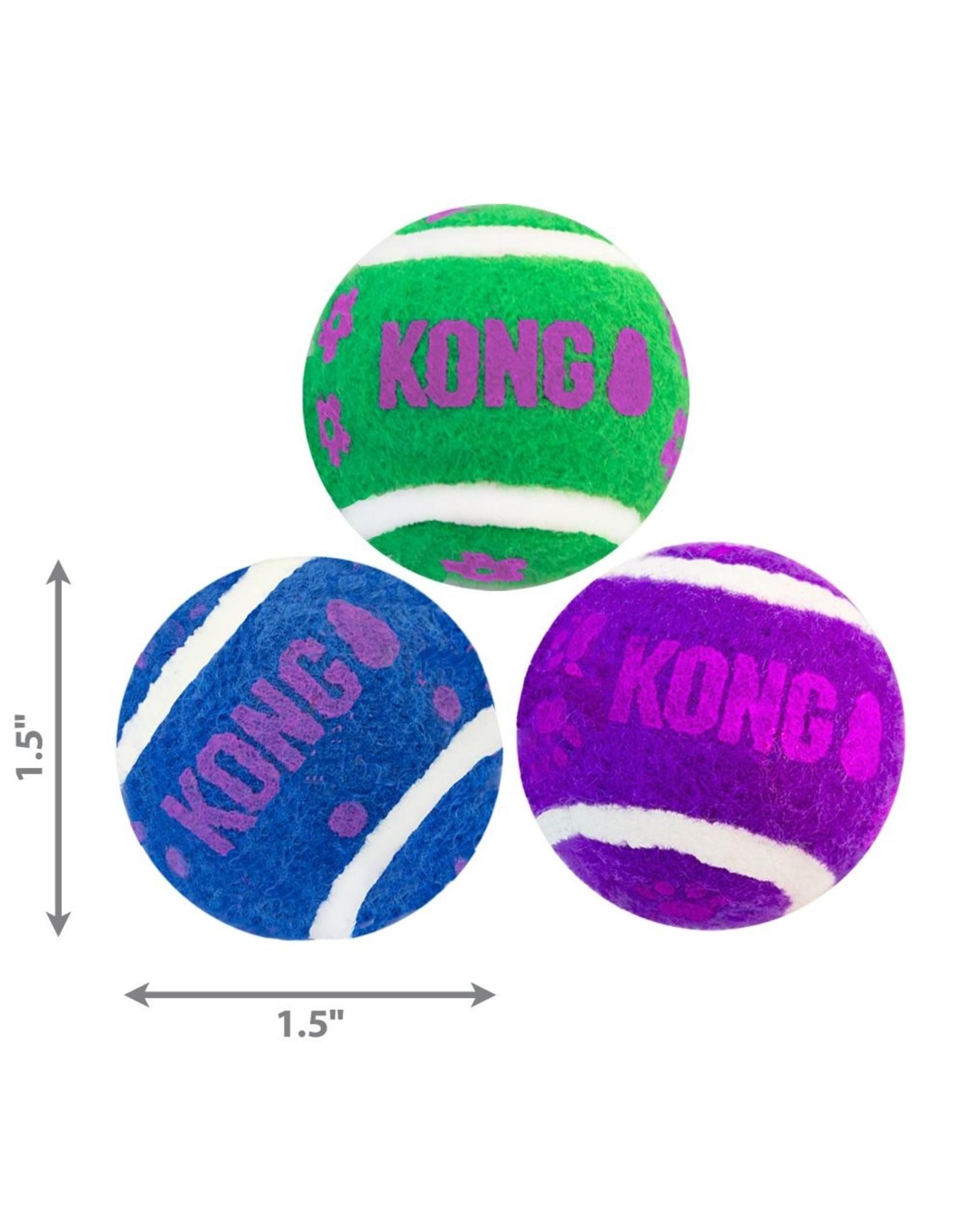 Kong Kong Active Cat Tennis Balls with Bells