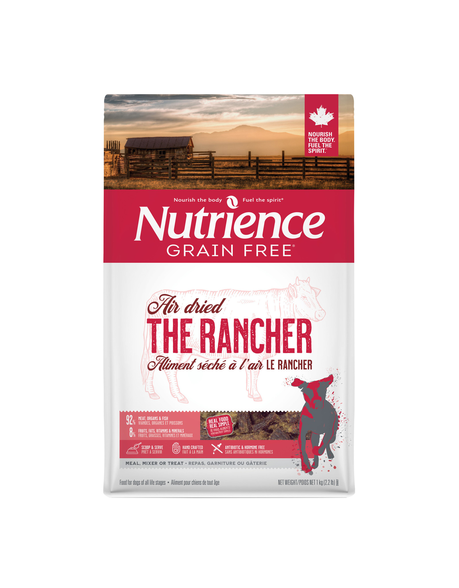Nutrience Nutrience GF Air Dried For Dogs The Rancher Beef 1kg (2.2 lb)