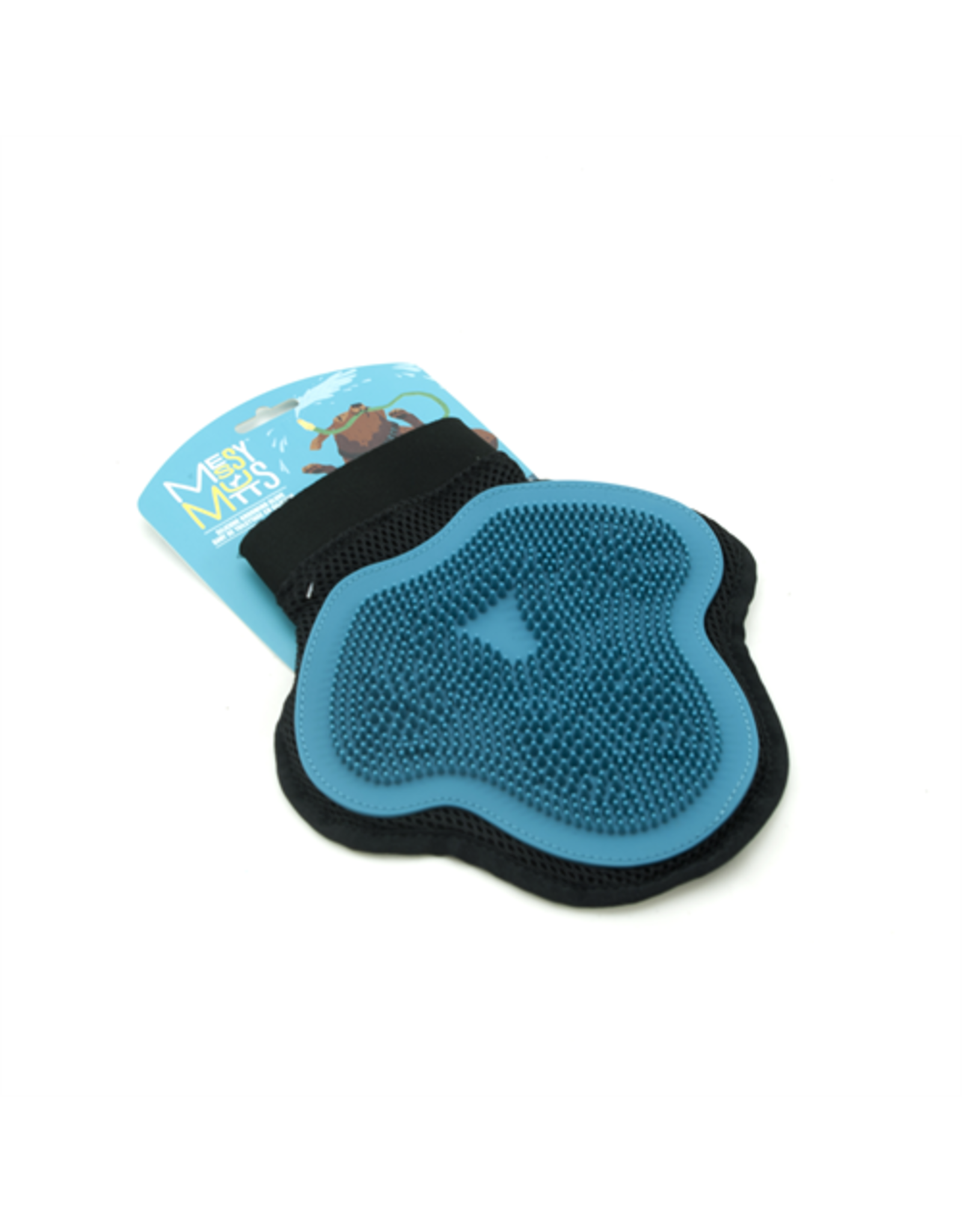 Messy Mutts Messy Mutts Silicone Grooming Glove Blue