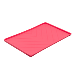 """Messy Mutts Messy Mutts Silicone Mat with Metal Rods Watermelon 20""""x12"""""""