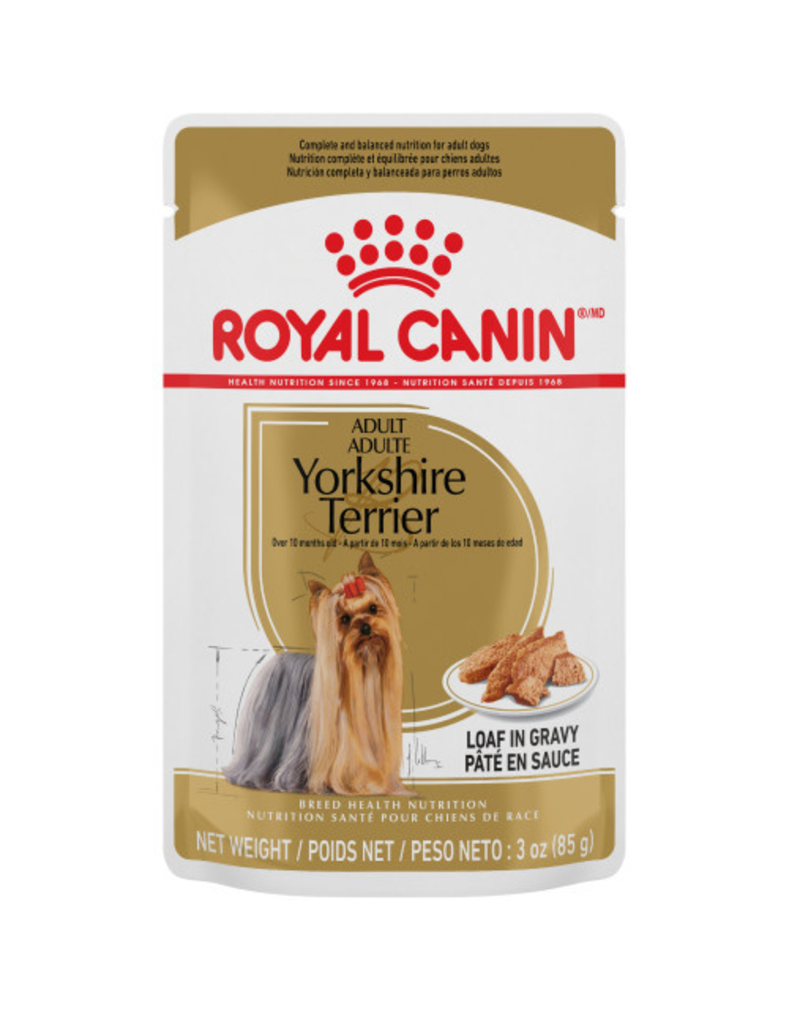 Royal Canin Yorkshire Loaf in Gravy Pouch 85g