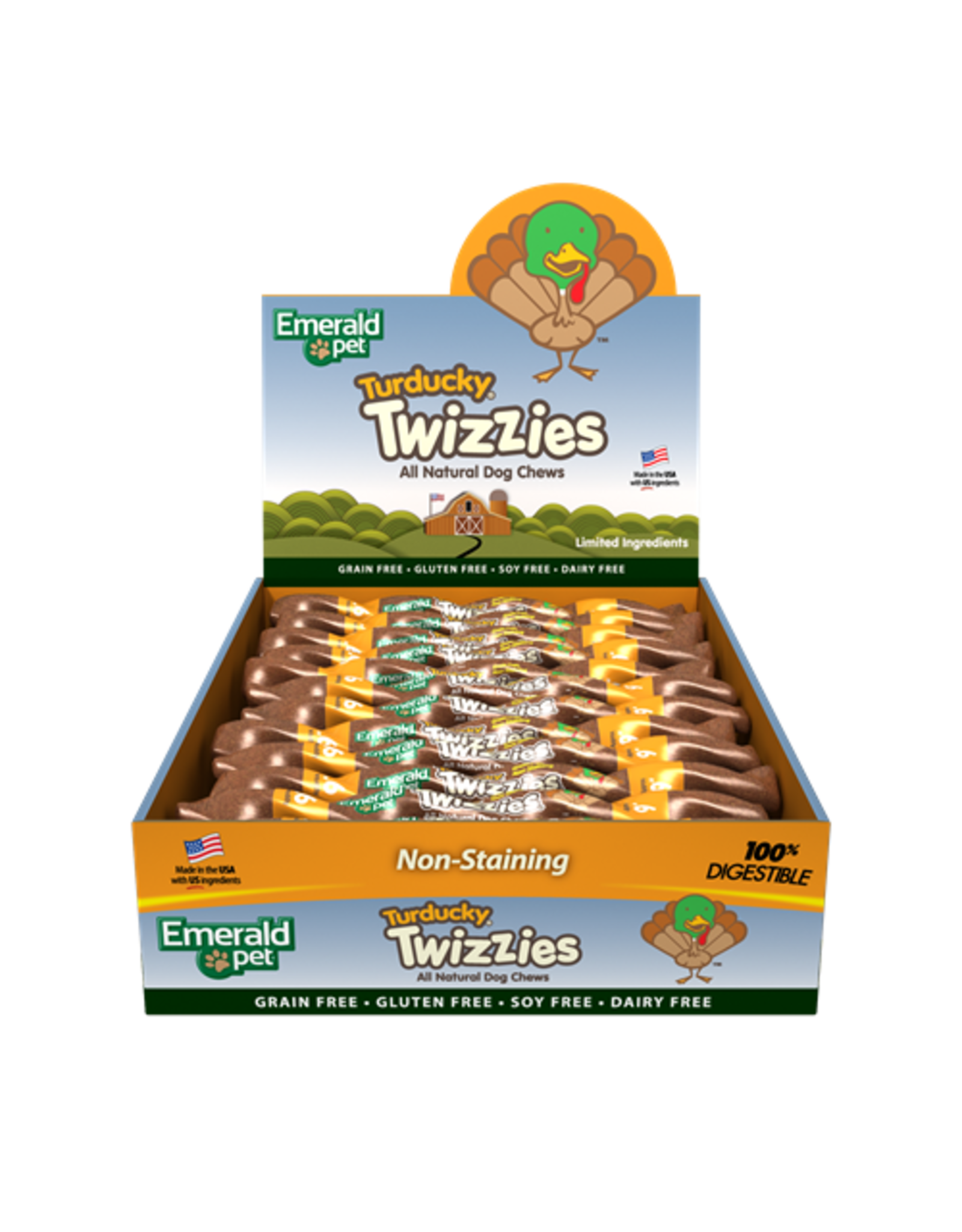 "Emerald Pet Emerald Pet Twizzies Turducky 6"" Singles"