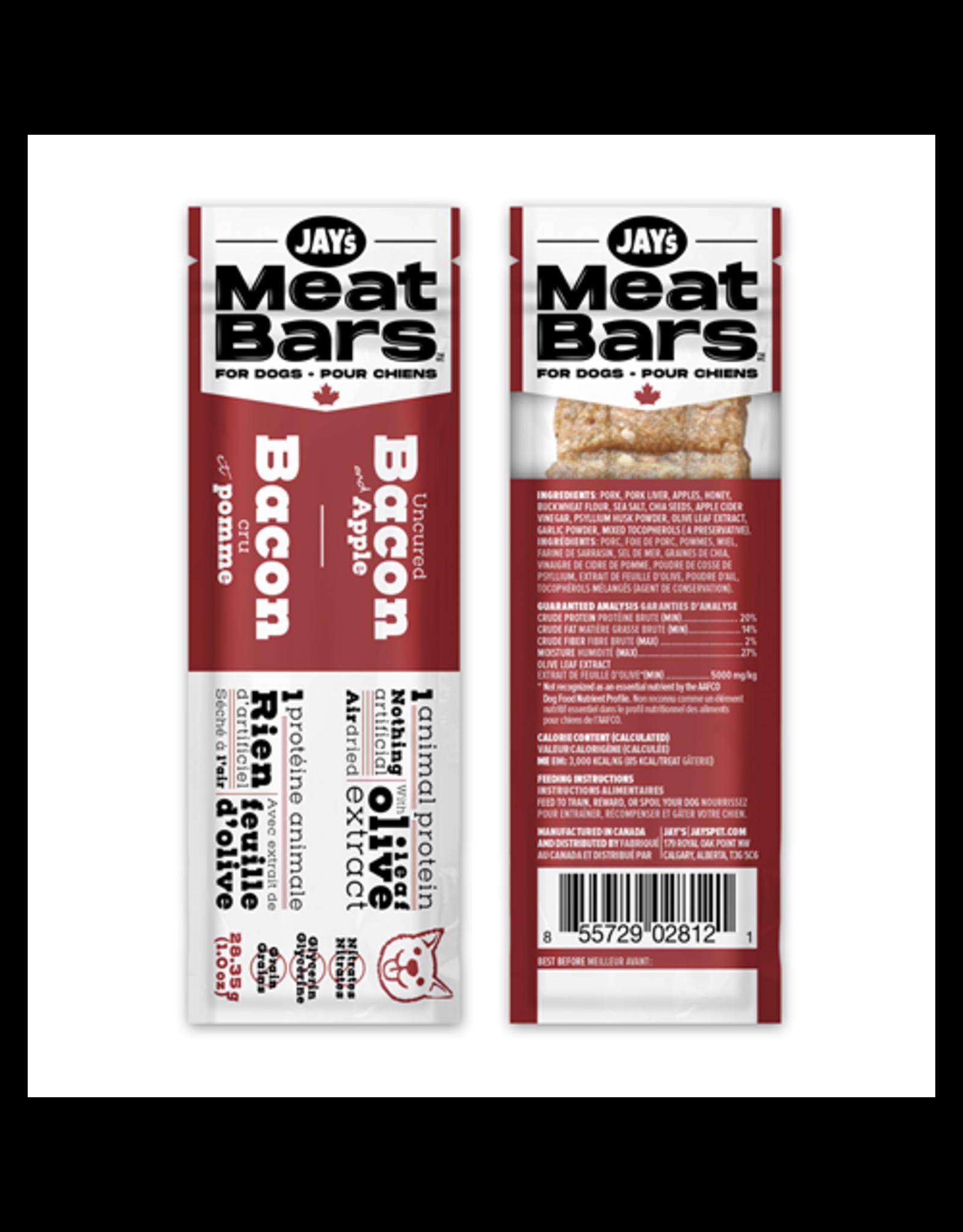 Jay's Tasty Adventures Jays Meatbars Bacon & Apple 28.35g