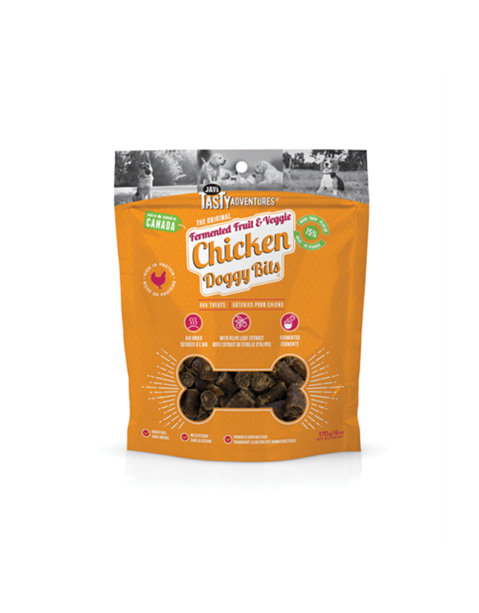 Jay's Tasty Adventures Jays Fermented Fruit & Veggie Chicken Dog Treats 170g