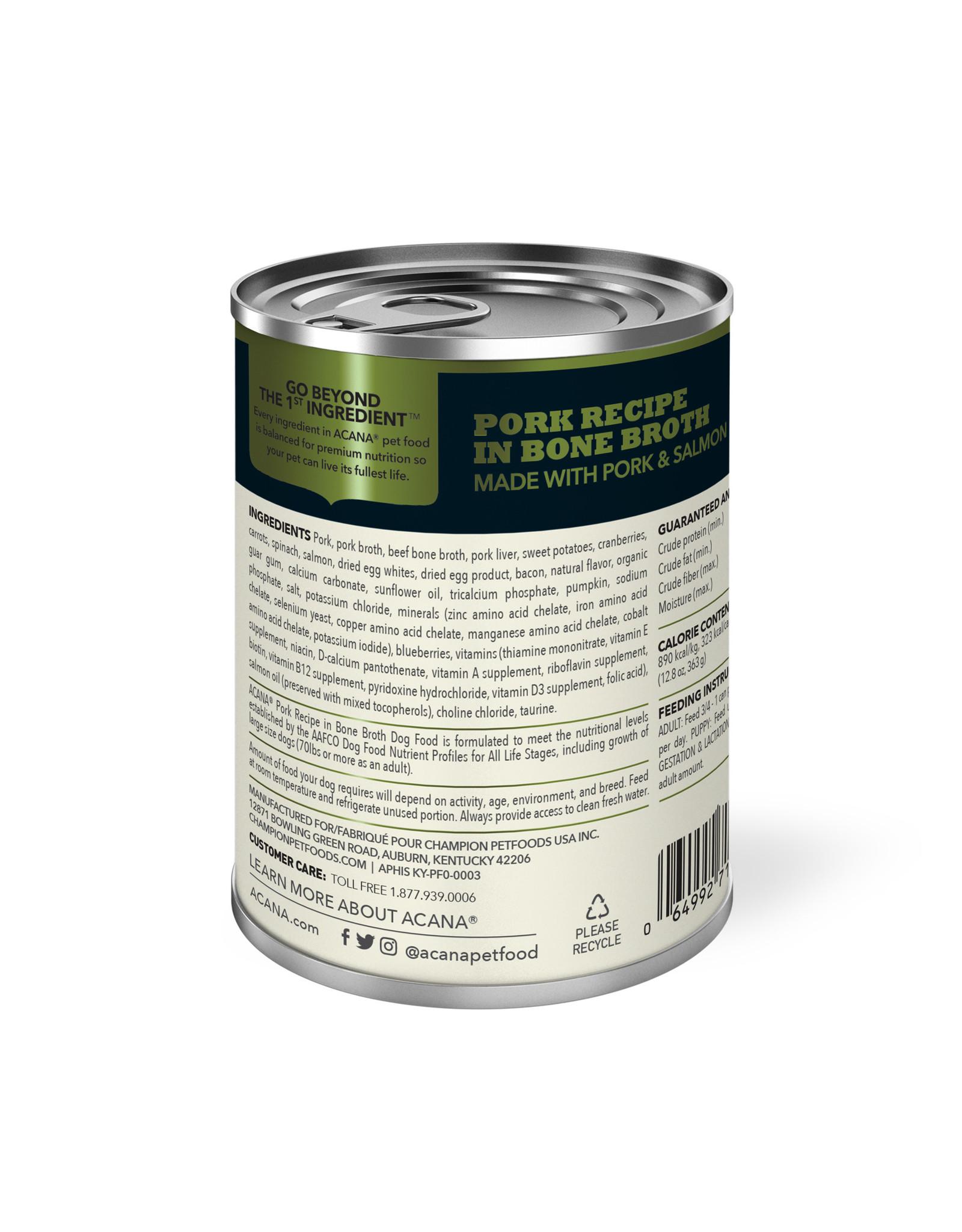 ACANA ACANA Wet Food Pork Recipe in Bone Broth 363g