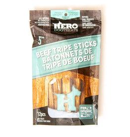 "Hero Dehydrated Beef Tripe Sticks 5"" 12 Pack"