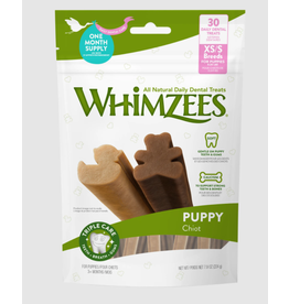 Whimzees Whimzees Puppy X-Small/Small Dental Chews for Dogs 30 Count Bag