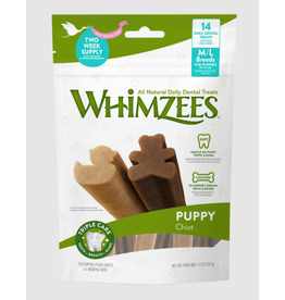 Whimzees Whimzees Puppy Medium/Large Dental Chews for Dogs 14 Count Bag