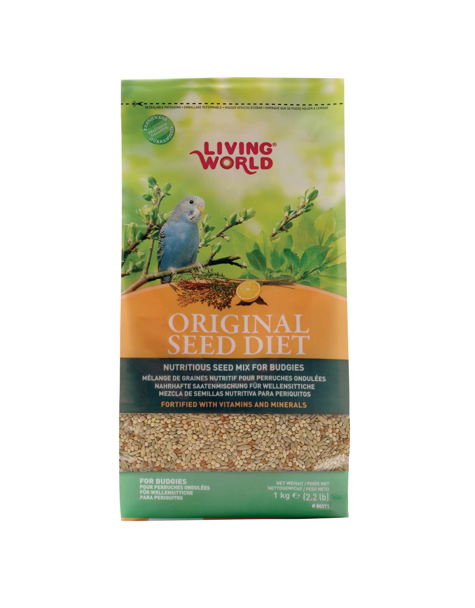 Living World Living World Original Seed Diet For Budgies - 1 kg (2.2 lb)