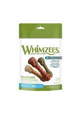 Whimzees Whimzees Brushzees Small Dental Chews for Dogs 24 Count Bag