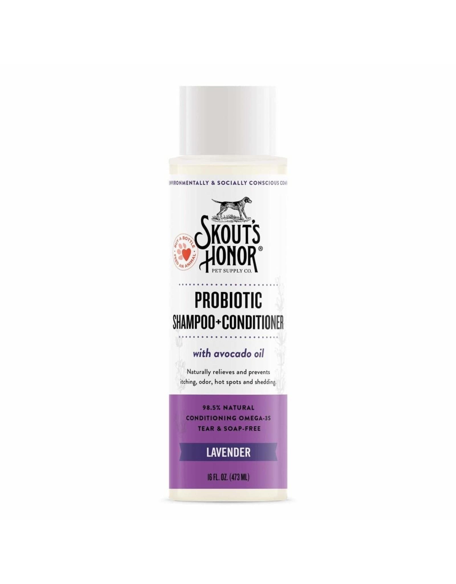 Skout's Honor Probiotic Shampoo & Conditioner Lavender 16oz