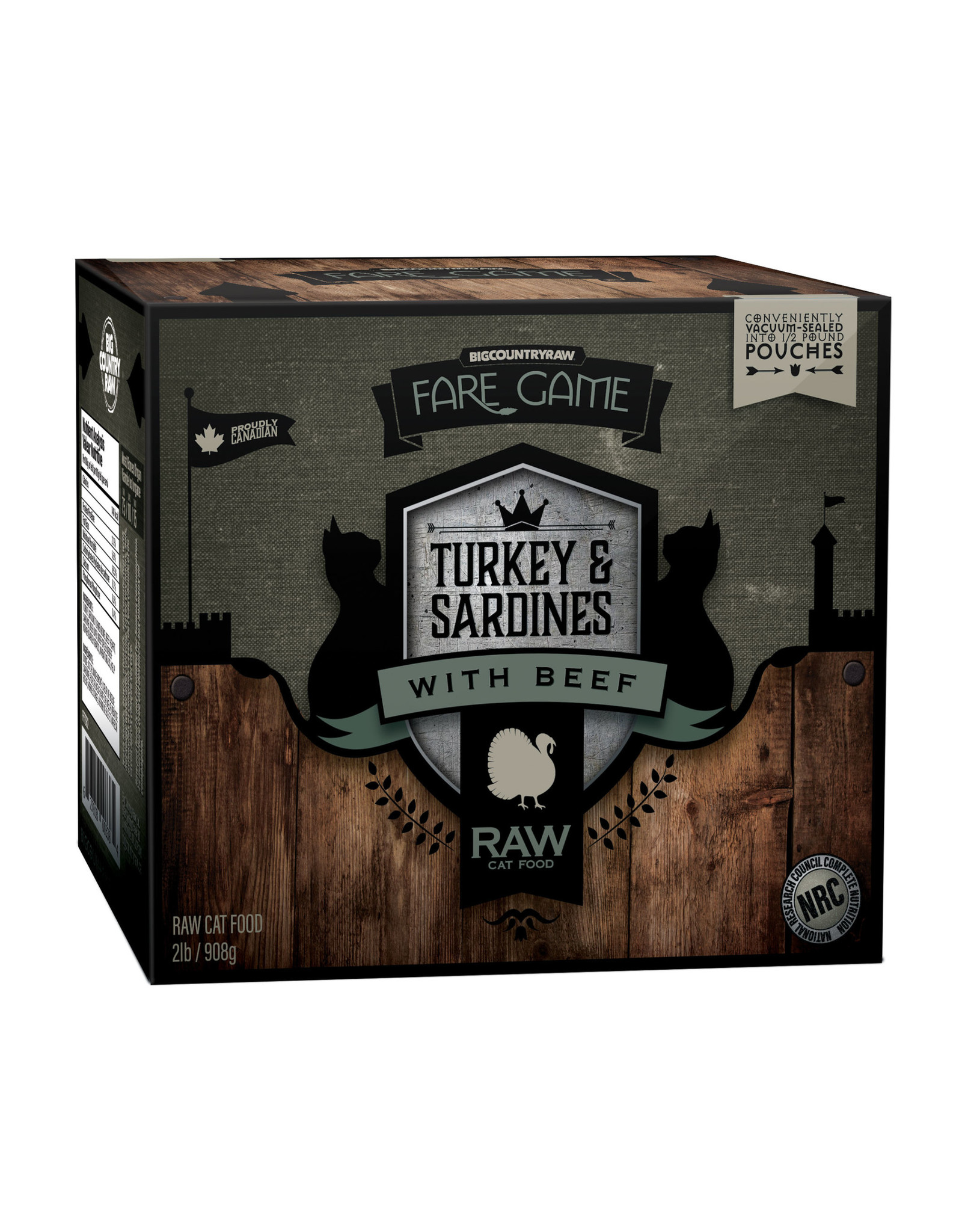 Big Country Raw Fare Game Turkey & Sardines With Beef 2lb