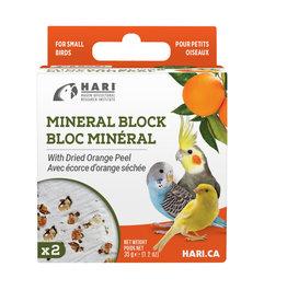HARI HARI Mineral Block for Small Birds Dried Orange Peel 35g 2 pack