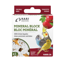 HARI HARI Mineral Block for Small Birds Dried Apple 40g 1 pack