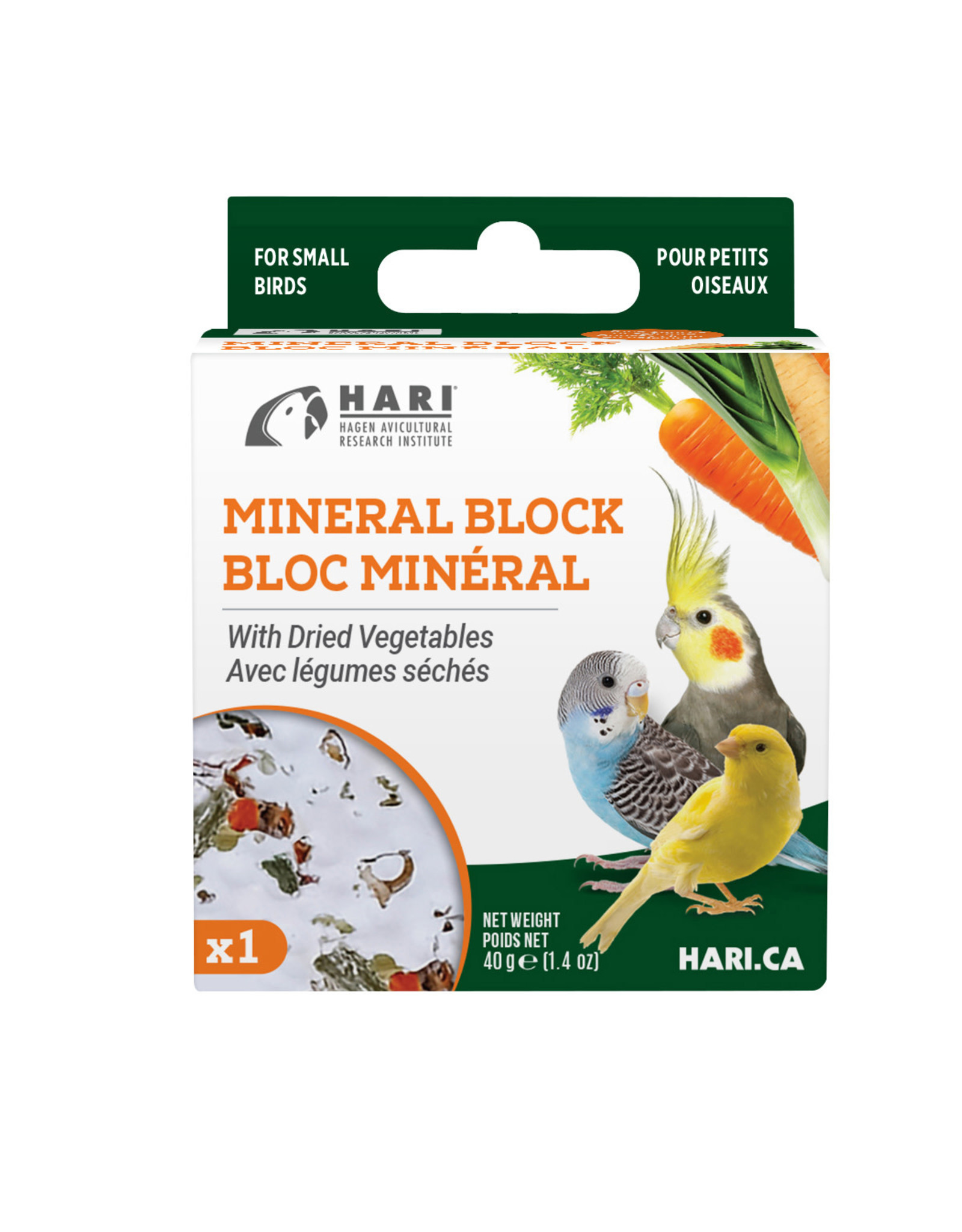 HARI HARI Mineral Block for Small Birds Dried Vegetables 40g 1 pack