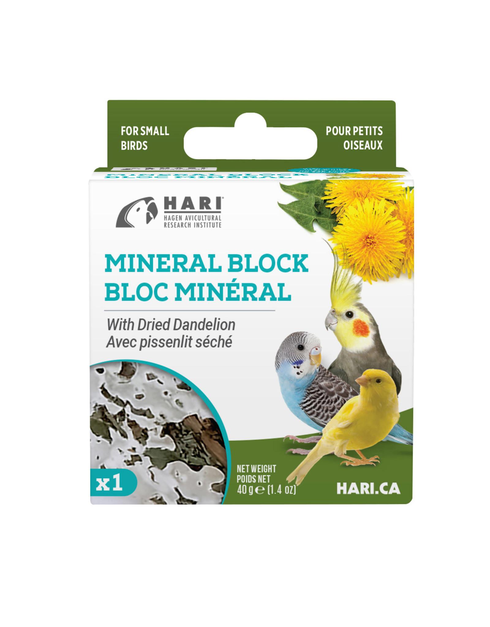 HARI HARI Mineral Block for Small Birds Dried Dandelion 40g 1 pack