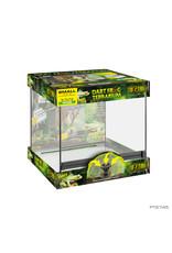 Exo Terra Dart Frog Terrarium - Advanced Amphibian Habitat Small/Wide 45Lx45Wx45Hcm (18x18x18in)