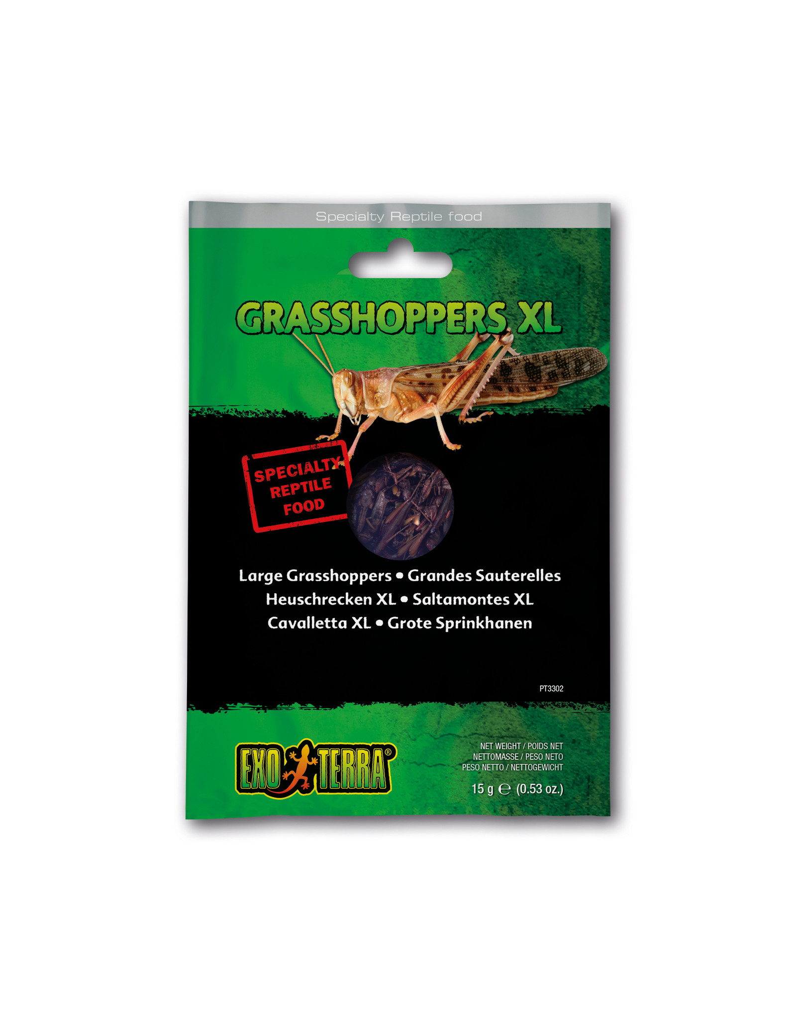 Exo Terra Exo Terra Reptile Food Grasshoppers XL 15g
