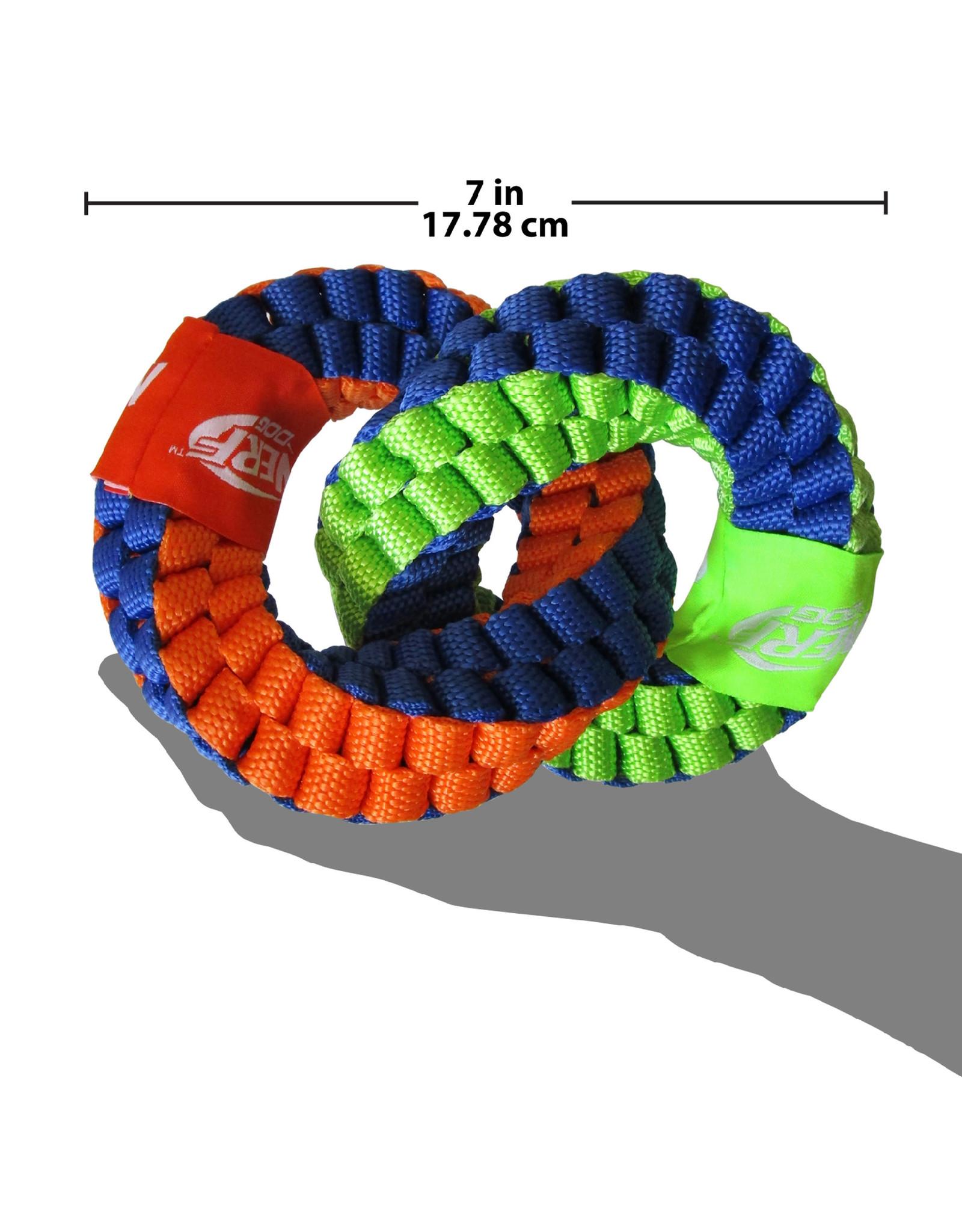 Nerf Nerf Dog Braided Twisted 2-Ring Tug 18cm (7in)