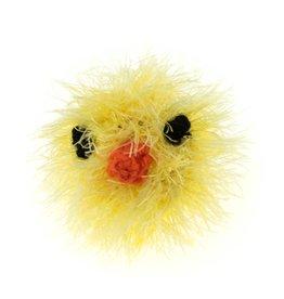 Oomaloo Handmade Squeaky Toy Chicken Head Ball Medium