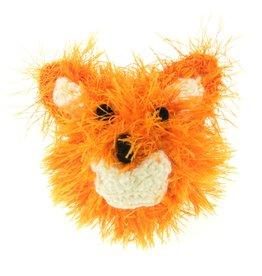 Oomaloo Handmade Squeaky Toy Fox Head Ball Medium