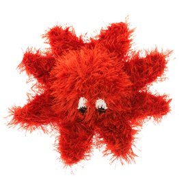 Oomaloo Handmade Squeaky Toy Red Octopus Large
