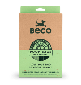 Beco Pets Unscented Degradable Handle Bags 120 Count