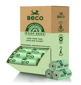Beco Pets Unscented Degradable Poop Bags Single Roll
