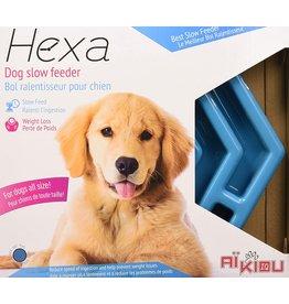 Aikiou Hexa Slow Feeder Blue