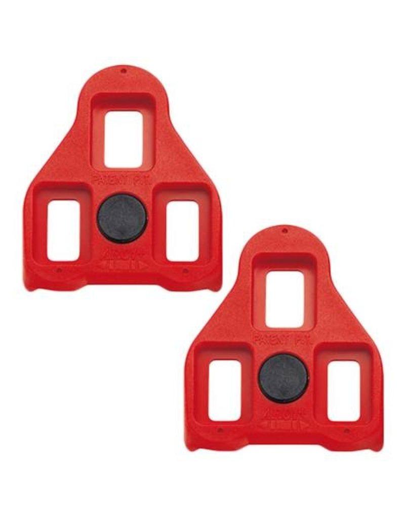Exustar ARC 1 Look Delta Cleats, 9 Degree Red