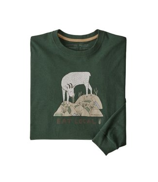 Patagonia Eat Local Goat Responsibili-Tee LS