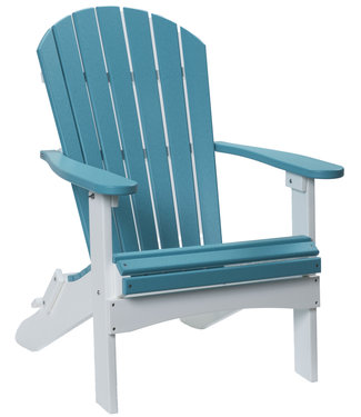 Berlin Gardens Comfo Back Folding Adirondack Chair - Standard-on-White