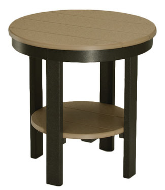 Berlin Gardens Round End Table (Dining Height) - Natural Finish