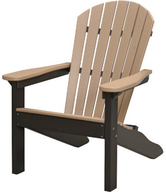 Berlin Gardens Comfo Back Adirondack Chair - Natural Finish