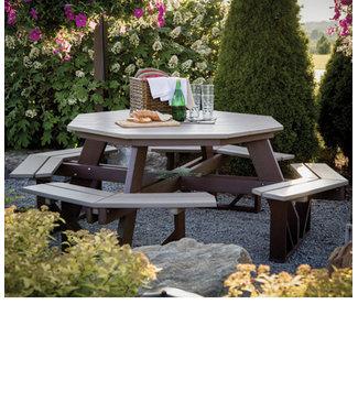 Berlin Gardens Octagon Picnic Table - Regular Finish