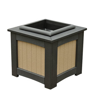 "Berlin Gardens 18"" Square Planter - Natural Finish"