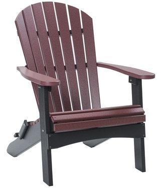 Berlin Gardens Comfo Back Folding Adirondack Chair Regular Finish Two-Tone