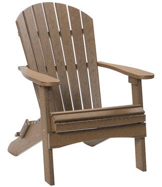 Berlin Gardens Comfo Back Folding Adirondack Chair Natural Finish