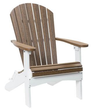 Berlin Gardens Comfo Back Folding Adirondack Chair Natural Finish