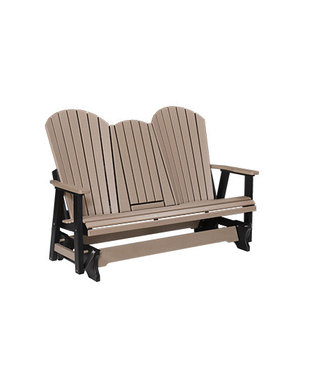 Berlin Gardens Comfo Back Three Seat Glider (with Console) Natural Finish