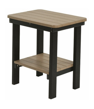 Berlin Gardens Rectangle End Table Natural Finish