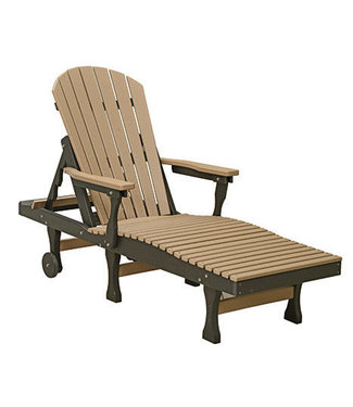 Berlin Gardens Comfo Back Chaise Lounge Natural Finish