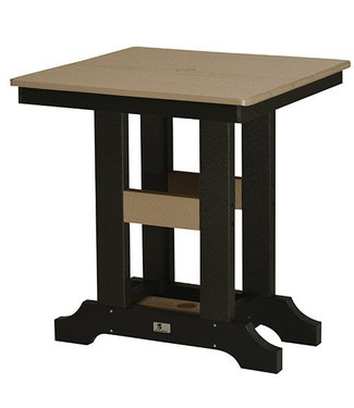 "Berlin Gardens Garden Classic 28"" Square Table (Bar Height) - Natural Finish"